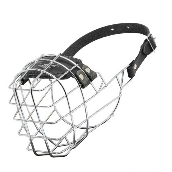 Wire Cage English Bulldog Muzzle With One Strap