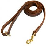 Stitched Leather English Bulldog Leash for Training and Walking