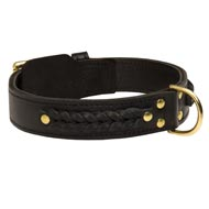 Incredible Design English Bulldog Braided Leather Collar