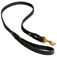 Walking Training Leather English Bulldog Leash Braided