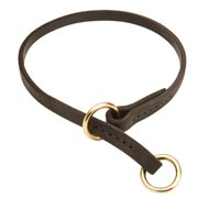 English Bulldog Leather Choke Collar Effective Training