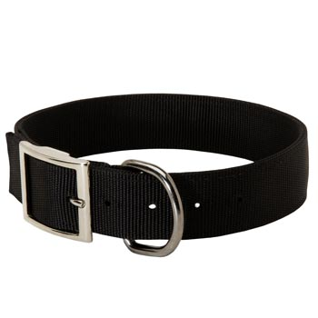 Nylon English Bulldog Collar with Adjustable Steel Nickel Plated Buckle