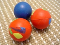 Crazy Color Rubber Ball Makes Sound