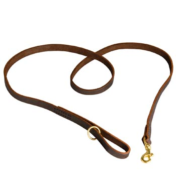 Durable Leather English Bulldog Leash